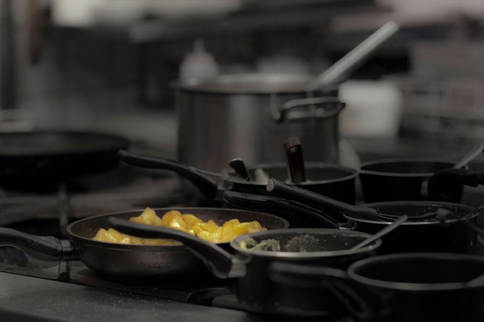De kachel van restaurant 'In het Bonte Varken'